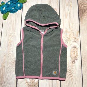 Carhartt baby girl's hooded fleece vest
